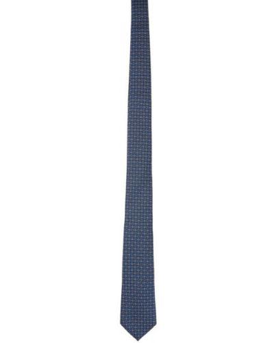 Czarny krawat z jedwabiu Gucci