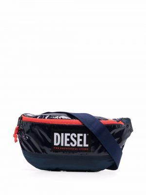 Niebieski pasek z paskiem Diesel