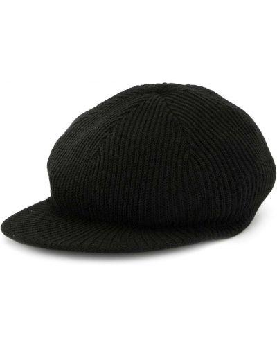 Czarna czapka wełniana z haftem Undercover