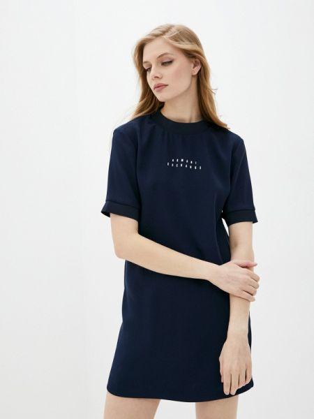 Платье футболка синее Armani Exchange