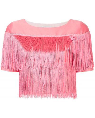 Шелковая футболка - розовая Ck Calvin Klein