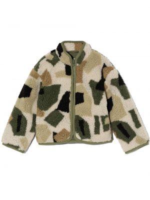 Zielona kurtka z printem Stella Mccartney Kids