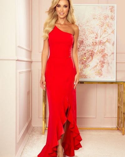 Czerwona sukienka materiałowa oversize Numoco