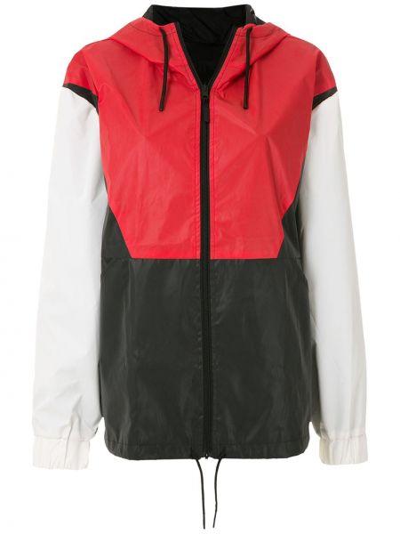 Прямая черная нейлоновая куртка с капюшоном на молнии Osklen