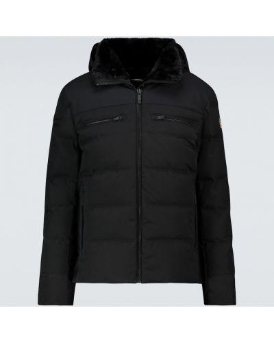 Czarna kurtka z kapturem Fusalp
