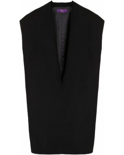 Жилетка на молнии свободная с v-образным вырезом с бахромой Yohji Yamamoto
