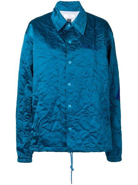 Хлопковая синяя куртка с воротником Facetasm