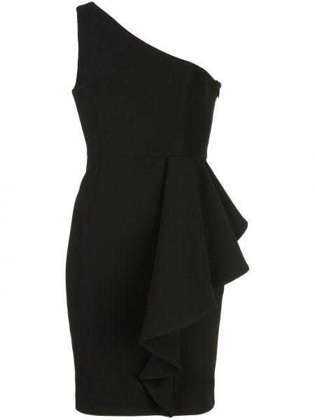 Приталенное платье мини на одно плечо на молнии с оборками Shona Joy