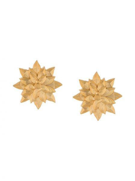 Золотистые желтые серебряные серьги позолоченные Natia X Lako