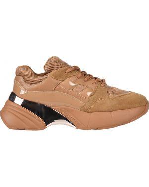 Кожаные кроссовки - коричневые Pinko