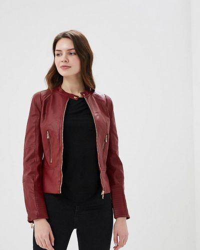 Кожаная куртка весенняя красная Fascinate