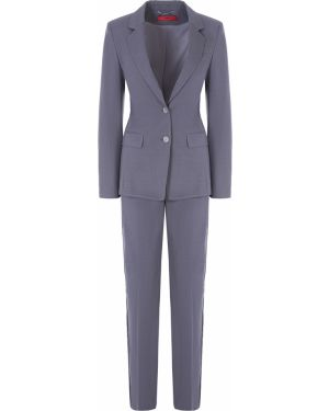 Облегающий костюмный брючный костюм с лацканами на пуговицах Hugo Boss