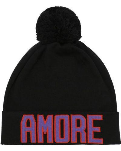 Черная шапка с помпоном Dolce & Gabbana