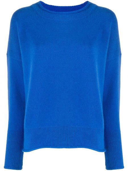 Кашемировый синий свитер в рубчик свободного кроя Iris Von Arnim