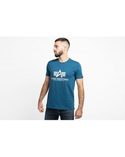 T-shirt bawełniana - niebieska Alpha Industries