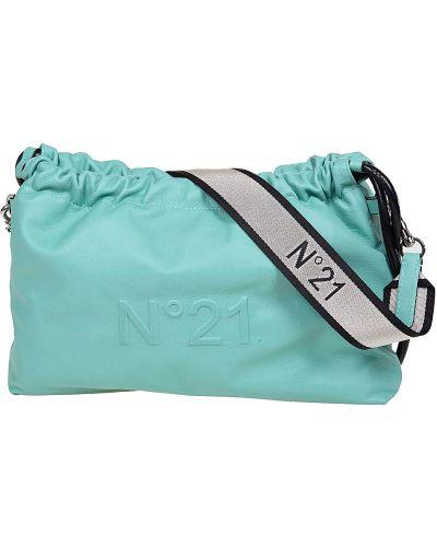 Zielona torba na ramię skórzana No. 21