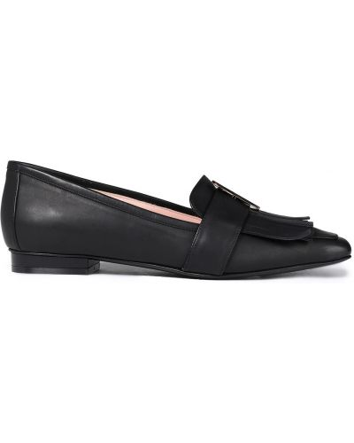 Czarne loafers skorzane Msgm