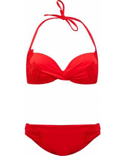 Красный кружевной купальник Ermanno Scervino