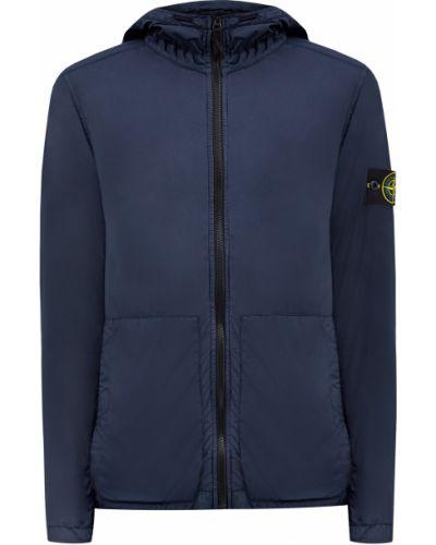 Хлопковая синяя куртка с капюшоном Stone Island