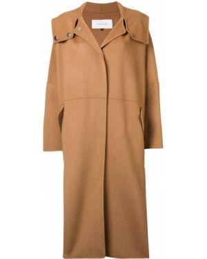 Шерстяное пальто с капюшоном айвори с капюшоном Le Ciel Bleu