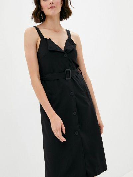 Черное прямое платье B.style