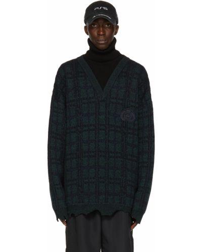 Czarny golf bawełniany z haftem Balenciaga
