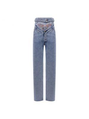 Хлопковые джинсы - синие Y Project