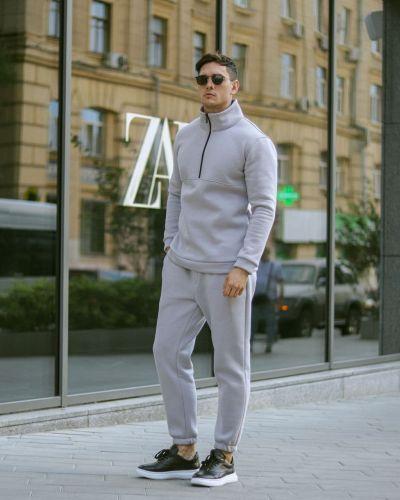 Теплый спортивный костюм - серый Rozetka