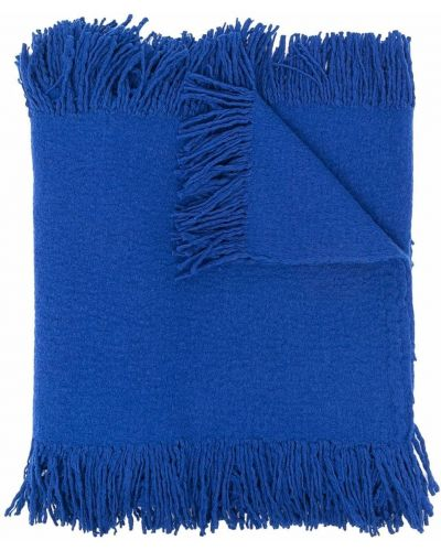 Синий шарф с бахромой Uma Wang