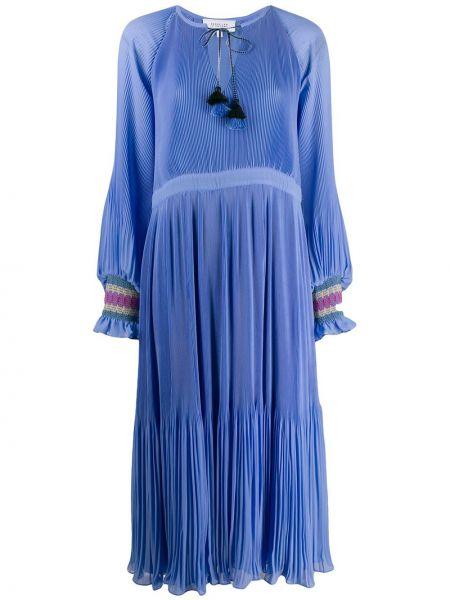 Платье миди макси с V-образным вырезом Derek Lam 10 Crosby