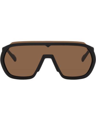 Текстильные черные солнцезащитные очки матовые Kenzo