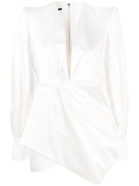Платье макси с длинными рукавами - белое Alex Perry