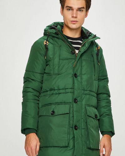 Утепленная куртка с капюшоном на пуговицах Jack & Jones