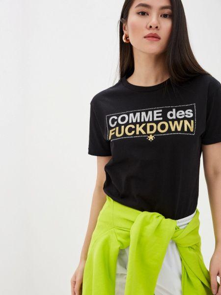 Футбольное черное поло Comme Des Fuckdown
