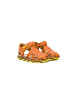 Кожаные оранжевые сандалии Camper