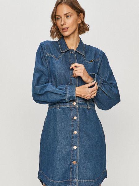 Прямое джинсовое платье с длинными рукавами с воротником Wrangler