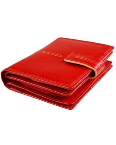 Кожаный кошелек красный Vip Collection