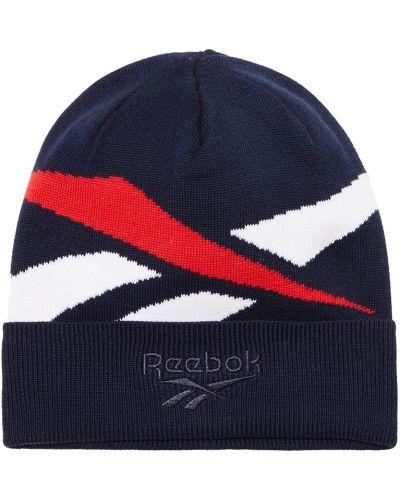 Вязаная шапка с отворотом из джерси Reebok