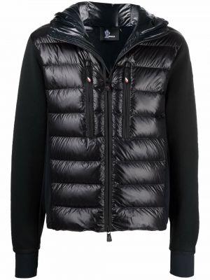 Czarna kurtka z kapturem Moncler Grenoble