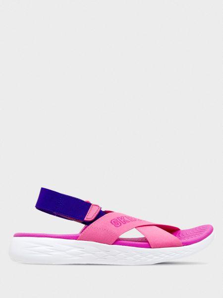 Текстильные брендовые сандалии Skechers