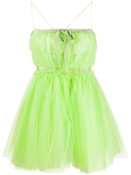 Sukienka mini zielona bez rękawów Brognano