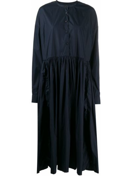 Свободное синее платье оверсайз на пуговицах Casey Casey