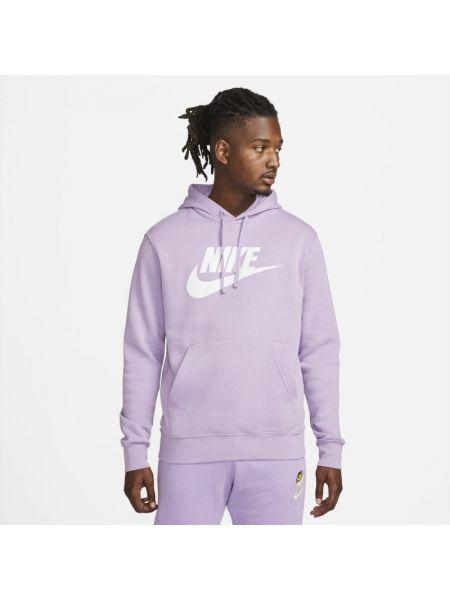 Fioletowa bluza z kapturem Nike
