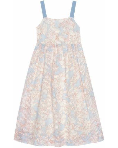 С завышенной талией платье миди из вискозы на бретелях Paul & Joe Sister