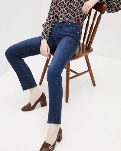 Синие джинсы-скинни узкого кроя 7 For All Mankind