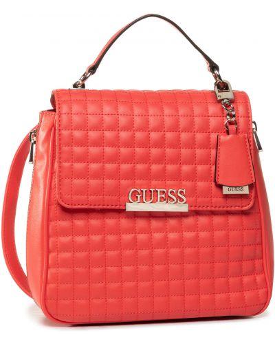 Czerwony plecak na torbę plecak Guess