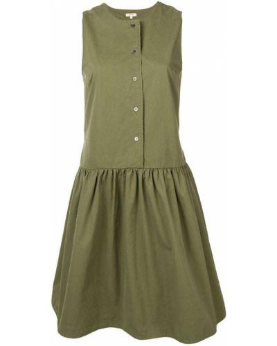 Платье миди на пуговицах - зеленое Bellerose