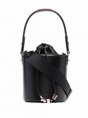 Czapka skórzana - czarny Karl Lagerfeld