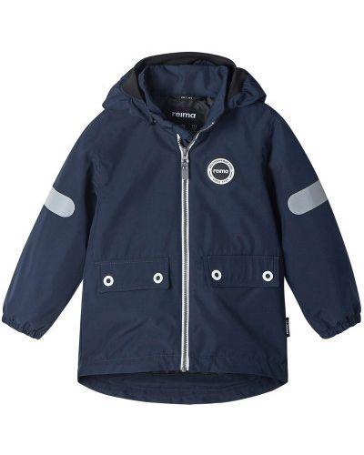 Утепленная синяя куртка на молнии Reima