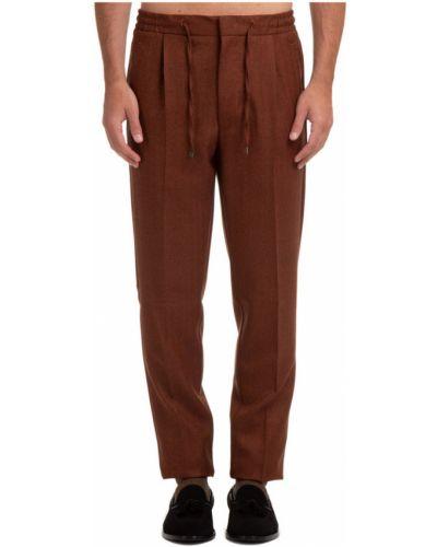 Brązowe spodnie Lardini